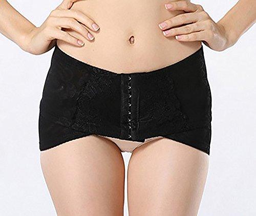 (Rarihima) 骨盤ベルト 腰痛 ベルト 骨盤矯正 ヒップアップ 産後 ダイエット 体型維持 着圧式ホック調整 (L, ブラック)