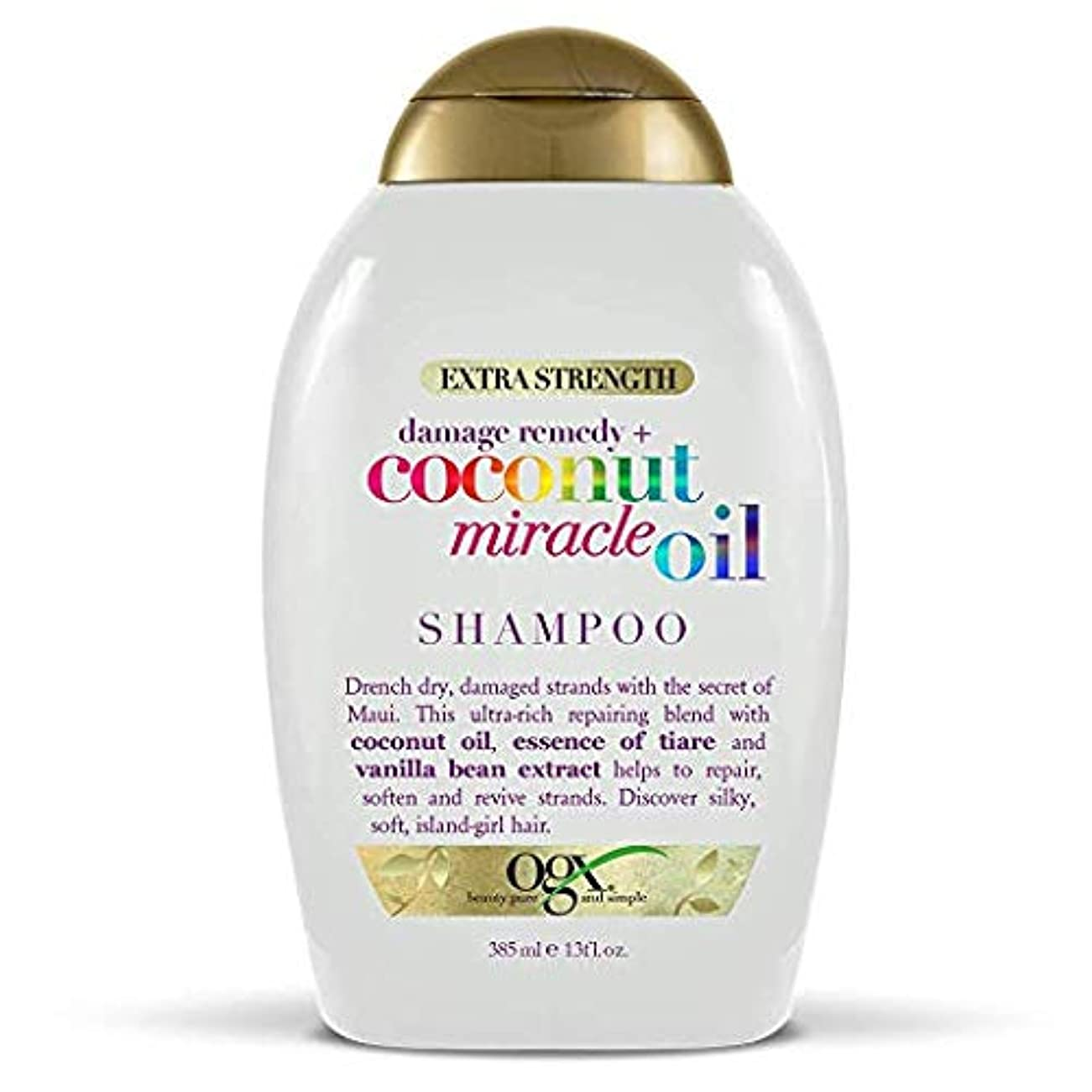 シルク既婚ナインへOgx Shampoo Coconut Miracle Oil Extra Strength 13oz OGX ココナッツミラクルオイル エクストラストレングス シャンプー 385ml [並行輸入品]