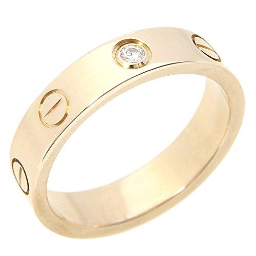 Cartier(カルティエ) リング ミニラブリング B4050748 1Pダイヤ PG ピンクゴールド サイズ48 中古 レディース 指輪 8号 ビス ウェディング Cartier [並行輸入品]