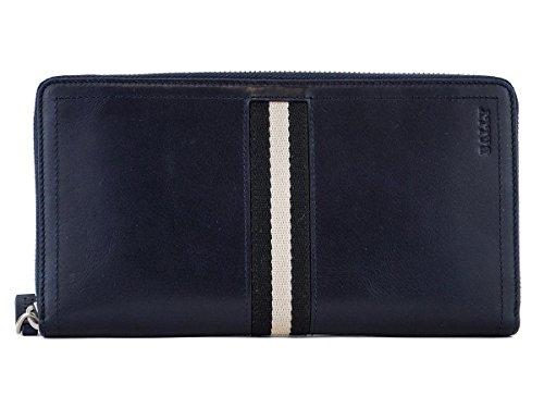 [BALLY]バリー 長財布 6187216 TEVIN ラウンドファスナー式 バリーストライプ NEW BLUE