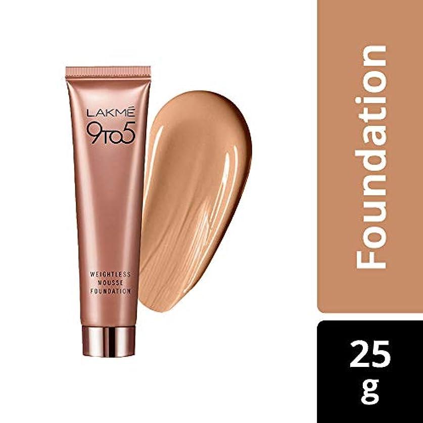 細い怠けたパテLakme 9 to 5 Weightless Mousse Foundation, Rose Ivory, 29 g