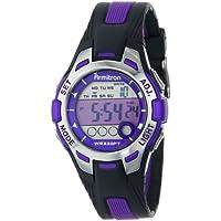 Armitron Sport Women's 45/7030PUR Purple-Accented Chronograph Watch