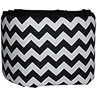 Baby Doll Bedding Chevron Crib Bumper, Black by BabyDoll Bedding