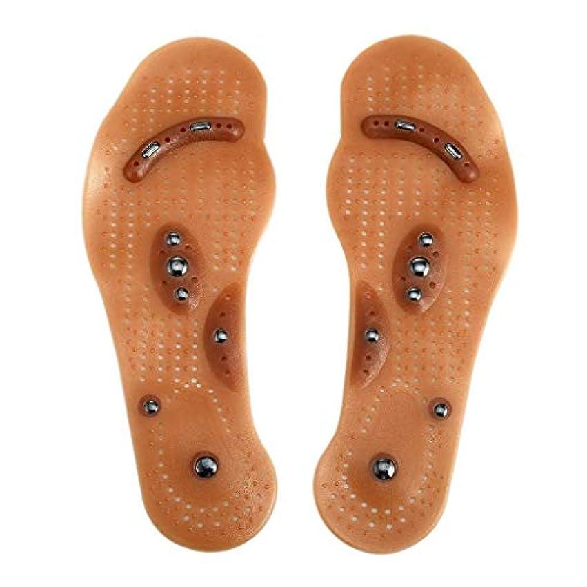 進捗式に対応する磁気マッサージインソール、指圧靴マッサージ効果インソール健康足医療援助足リフレクソロジーは、血液循環疲労を促進します (Size : M)