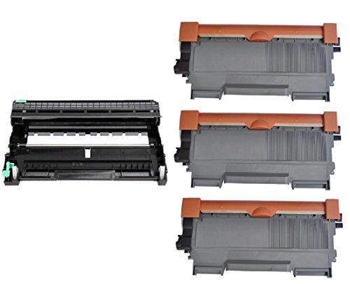 InkClub枚入り( 3tn660+ 1dr630)新しい互換ブラックHYトナー&ドラムカートリッジセット、交換for Brother dr-630、tn-660