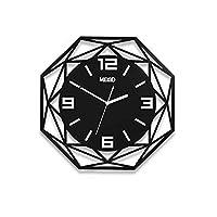 Vberry 白と黒の大胆な古典的な石英の壁時計(58 Cm / 22インチの直径) - 家/キッチン/寝室/レストランに適しています