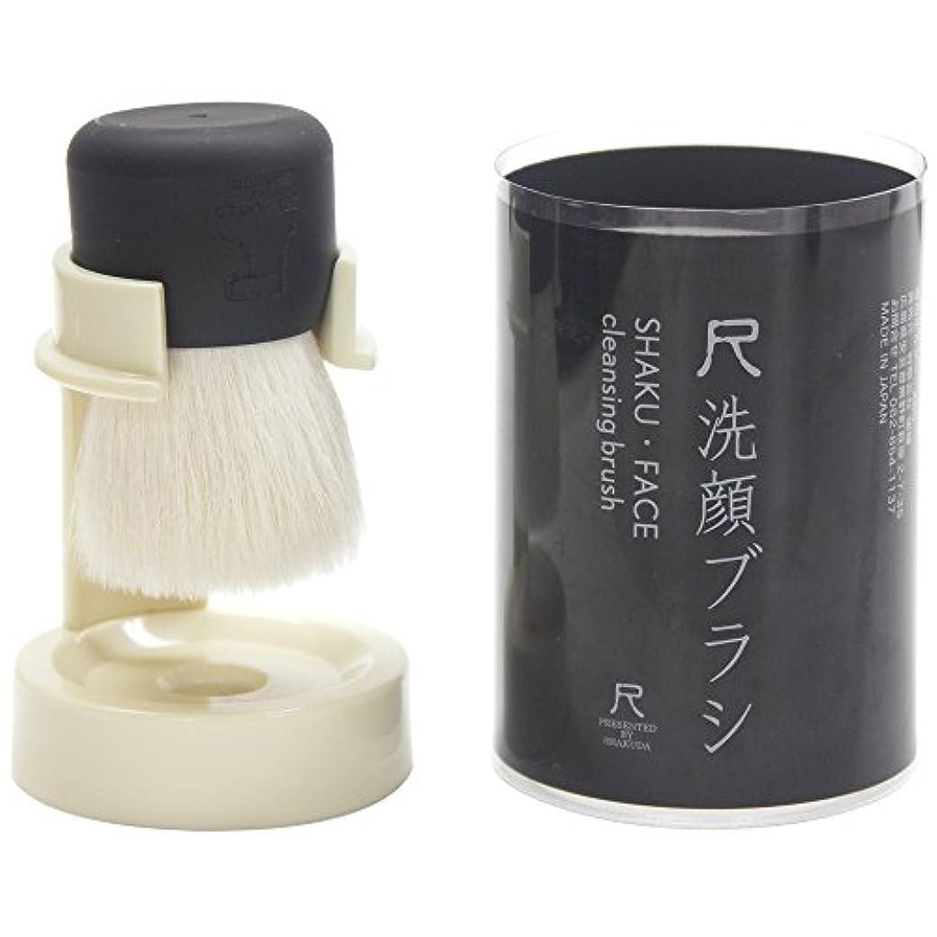 ステーキ特殊ルー熊野筆 尺 洗顔ブラシ ブラック
