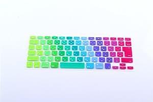AIYOPEEN 日本語 キーボード カバー Mac Book Air Pro Retina 13 15 インチ(13色の虹)