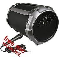 カラオケbluetooth スピーカーパーティーウーファーバズーカ重低音ポータブルワイヤレススピーカー高音質マイク入力 スピーカー室内/アウトドア、3つのオーディオ出力、6寸15Wウーファー、ポータブル取っ手、2つのマイク音声入力、LEDディスプレイ、AUXオーディオ入力及びUディスクやSDカードの音楽ファイルの再生対応。(BS38)