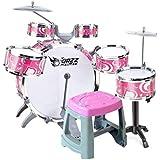 LINGLING-ドラム 子供用ドラム玩具音楽玩具子供用教育用パーカッションドラム初心者男子3-6歳 (Color : Pink B)