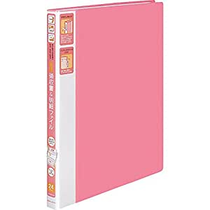 コクヨ ファイル 領収書ファイル ピンク A4 24ポケットラ-YR510P