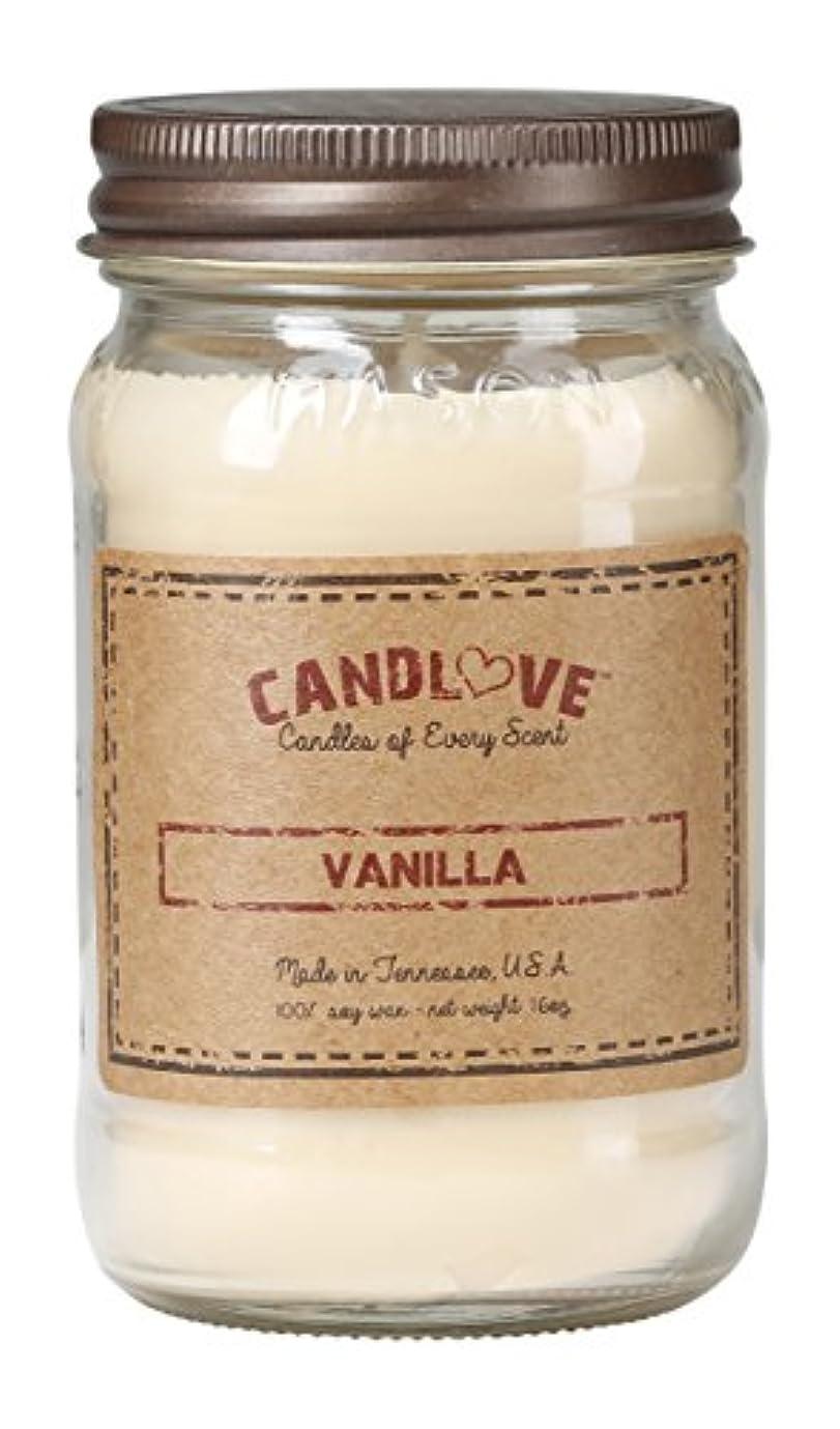 死すべきスクレーパー台無しにCandlove「バニラ」香りつき16oz Mason Jar Candle 100 %大豆Made in the USA ( 16oz )