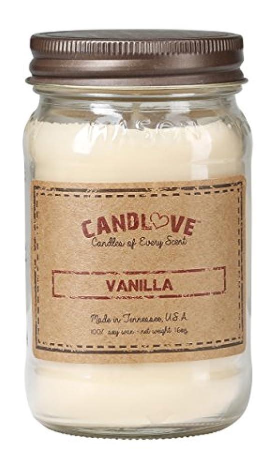 することになっているメディア赤面Candlove「バニラ」香りつき16oz Mason Jar Candle 100 %大豆Made in the USA ( 16oz )