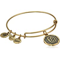"Alex And Ani Women's Power Of Positivity Initial O Rafaelian Gold Charm Bracelet - 8"""