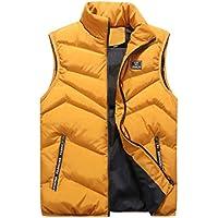 omniscient Men Packable Puffer Vest Stand Collar Packable Zipper Sleeveless Jackets