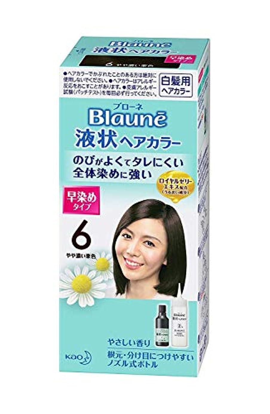 拮抗麺みなさん【花王】ブローネ 液状ヘアカラー 6やや濃い栗色 ×10個セット