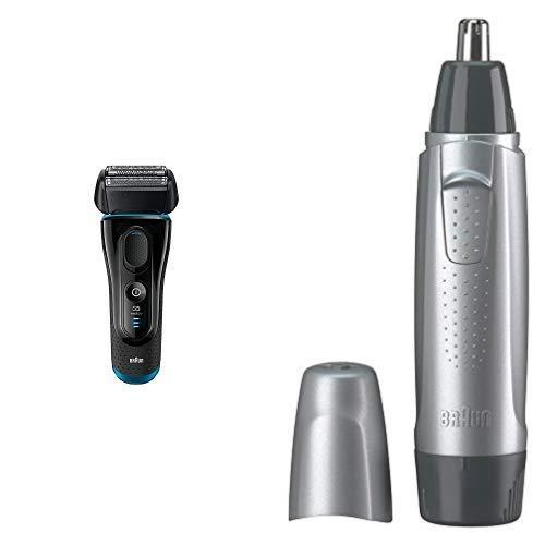 【セット買い】ブラウン メンズ電気シェーバー シリーズ5 5140s + 鼻毛 耳毛カッター EN10