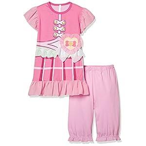 [バンダイ]HUGっと! プリキュア 変身半袖パジャマA ガールズ ピンク 日本 120cm (日本サイズ120 相当)