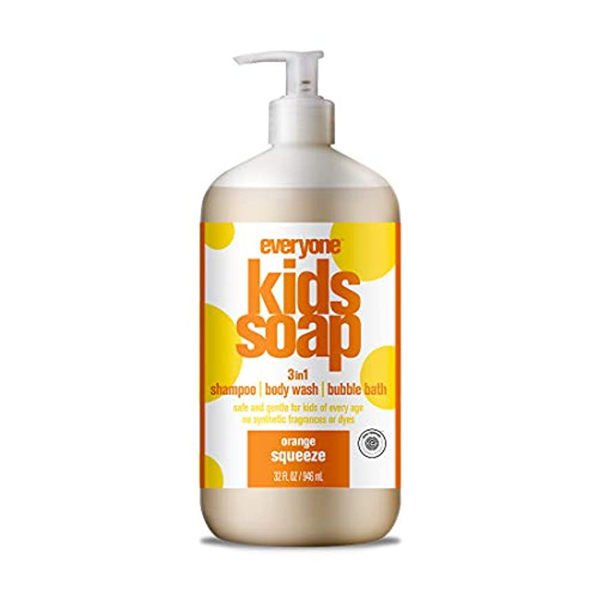 豚肉セント拍手海外直送品EO Products Everyone Soap For Kids Orange Squeeze, Orange Squeeze 32 OZ
