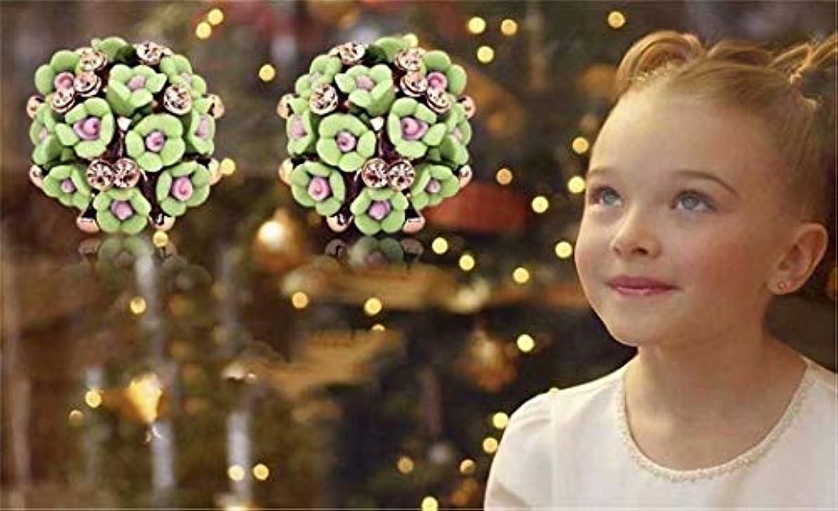 有益なハッピーカトリック教徒七里の香 女性 ソフトセラミック フラワーズ 咲く 絶妙の 可愛い 誇張されました ダイヤモンド イヤリング 女性たち