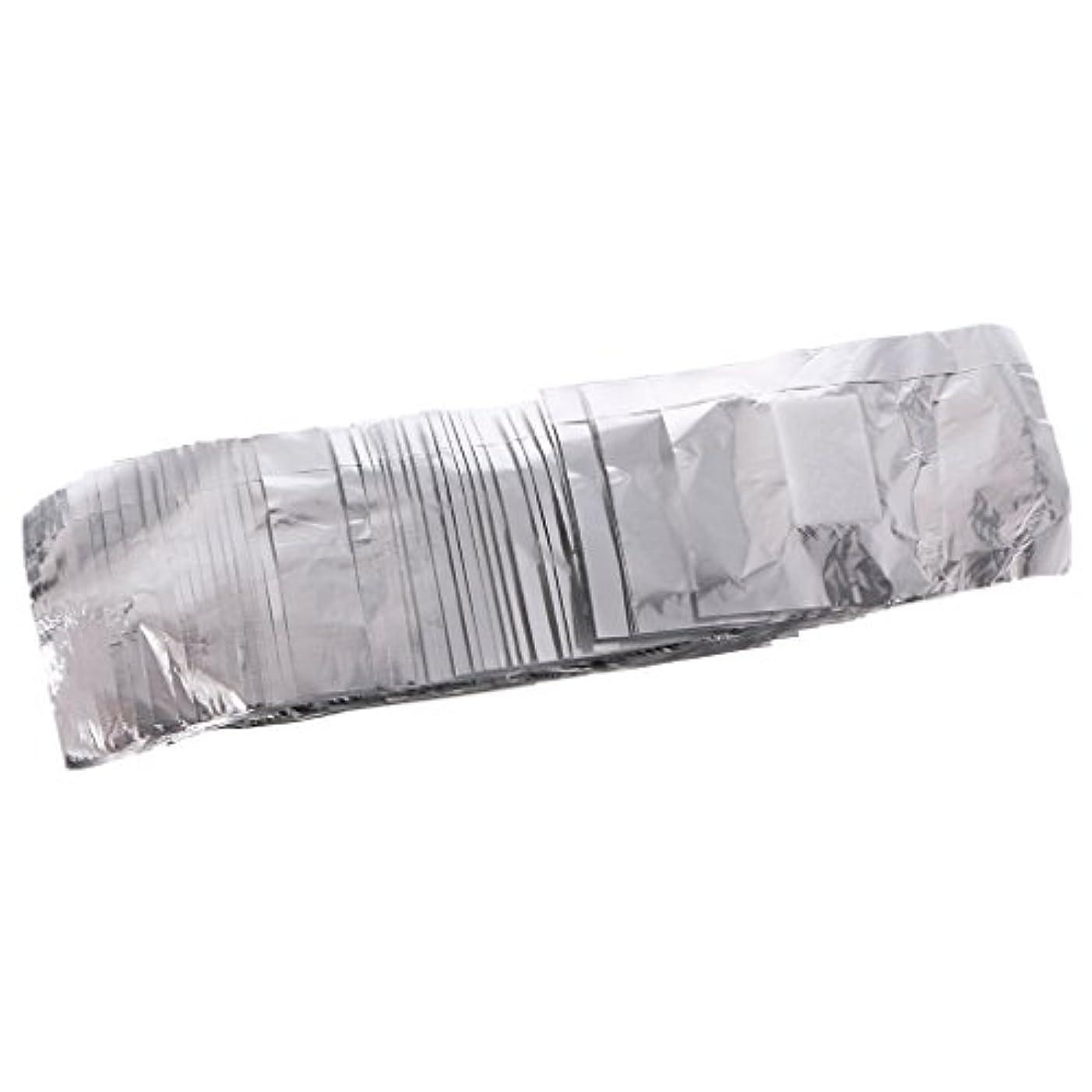 配列小人抱擁ジャッキーネイルアートアンロード錫箔50アルミ箔ネイルアートソークオフアクリルジェルポリッシュネイルラップリムーバー