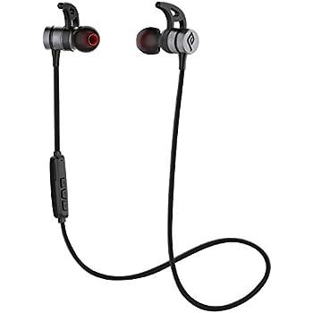 Bluetooth イヤホン Parasom(パラソム) A1 ワイヤレス イヤホン IPX5 マグネット内装 Bluetooth 4.1 スポーツ ヘッドセット 防水 防汗 防滴 高音質 ノイズキャンセリング iPhone&Android スマートフォンに対応 ブラック・グレー