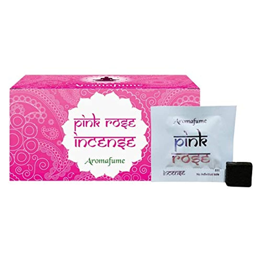 クスクス引き出しサポートAromafume Pink Rose Incense Bricks (Medium)