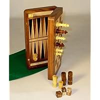 Wood Magnetic Folding Chess & Backgammon