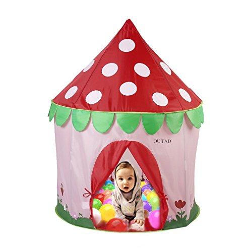 [해외]OUTAD 키즈 플레이 텐트 접이식 실내 야외 아이 게임 천막 공주 텐트 1-6 세에 적용/OUTAD Kids Play Tent Folding style indoor outdoor children game Tent Princess`s tent applies to 1-6 years old