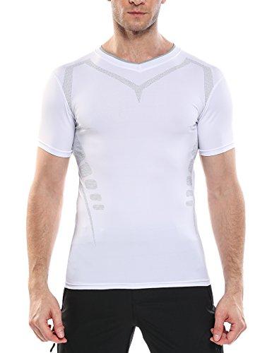 コンプレッションウェア 加圧シャツ アンダーウェア クドライシャツ 半袖 クルーネック UVカット 吸汗速乾 冷感