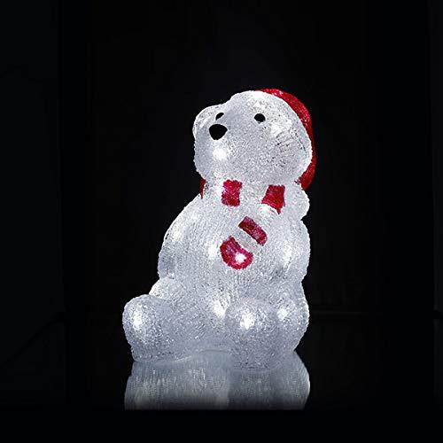 クリスマス イルミネーション LED 3D モチーフライト Sサイズ (シロクマ)