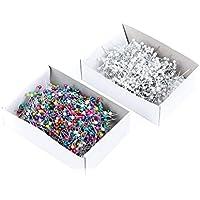 1箱(800個)ラウンドパールヘッド装飾ストレートピンステンレスドレスメーカーピンコサージュ花屋縫製ピン (ホワイト)