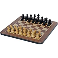 Black Stained Wood 16 inches Staunton Chess Set [並行輸入品]