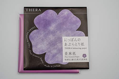 null テラ THERA にっぽんのあぶらとり紙亜麻 本体 紫 50枚 紫の画像