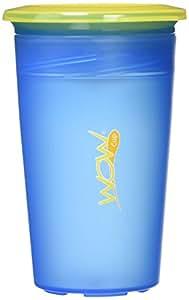 KJC フタをしたまま飲める Wow Cup(ワオカップ) クリアカラー ブルー