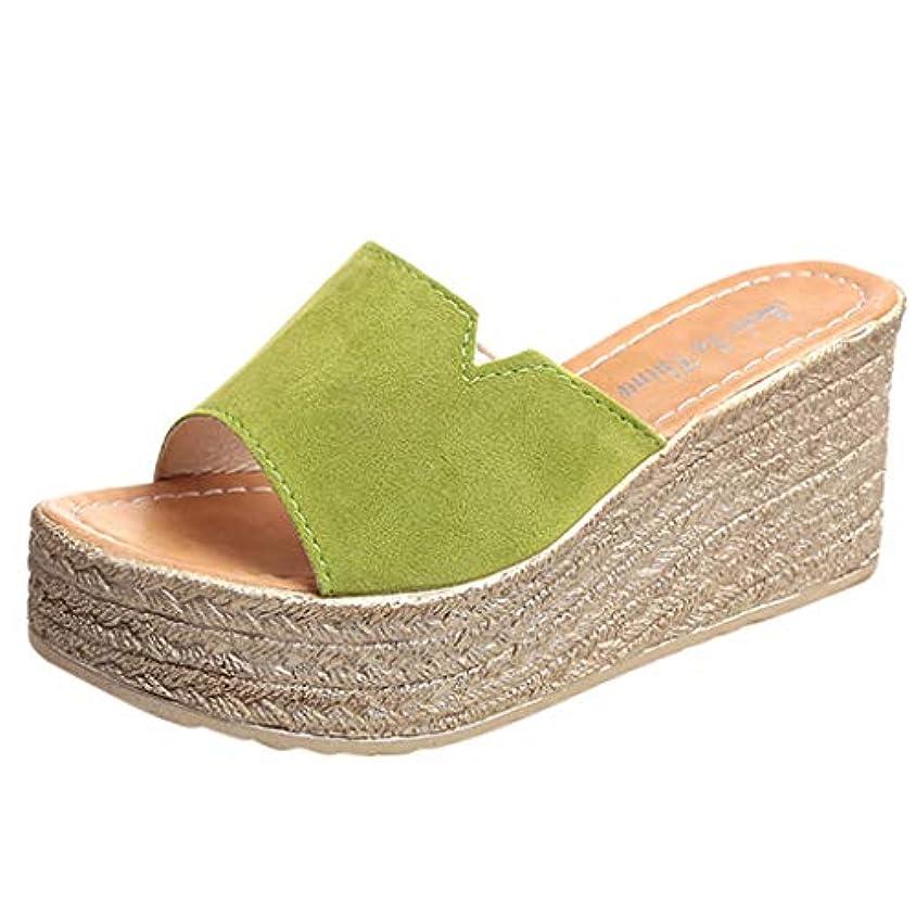 高架シンク時間ウェッジソール ミュール Foreted ビーチサンダル 履き心地 厚底靴 日常着用 オープントゥ 下履き スリッパ 痛くない 夏 海