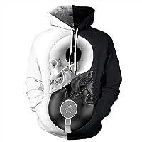 メンズ3Dパーカーニュートラル3D夫婦のフード付きのセーターの3Dファッション愛好家のシャツの秋と冬の緩い野球ユニフォームサイズ大S-6XL HthlyP (Color : 3, Size : L)