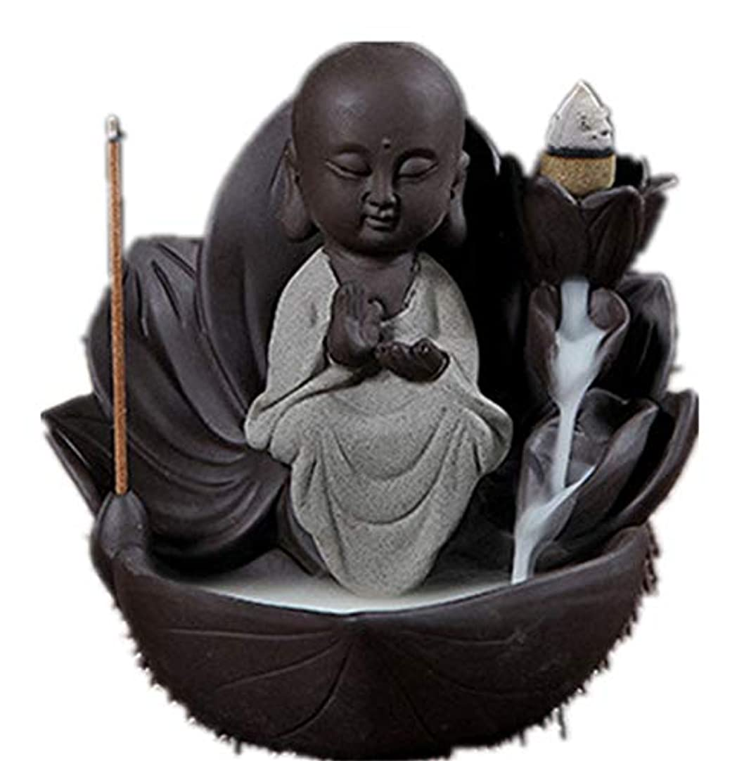 液体征服者ベーシックXPPXPP Backflow Incense Burner, Household Ceramic Returning Cone-shaped Candlestick Burner