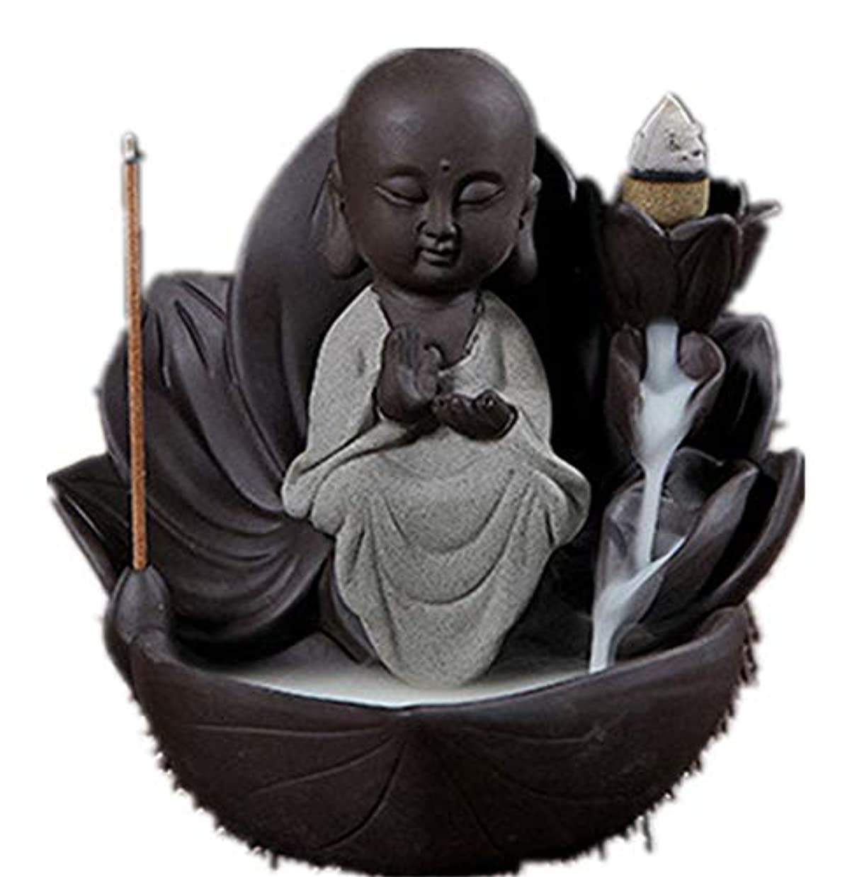 かんたん意気揚々うぬぼれたXPPXPP Backflow Incense Burner, Household Ceramic Returning Cone-shaped Candlestick Burner