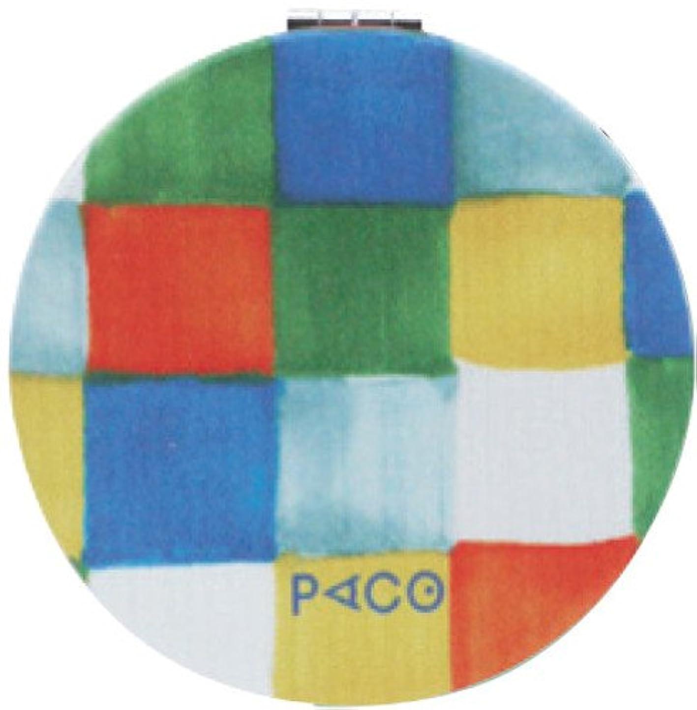 小屋因子起きている現代百貨 鏡 PACO/ボックスチェック 6.2×6.2cm コンパクトミラー A332BO