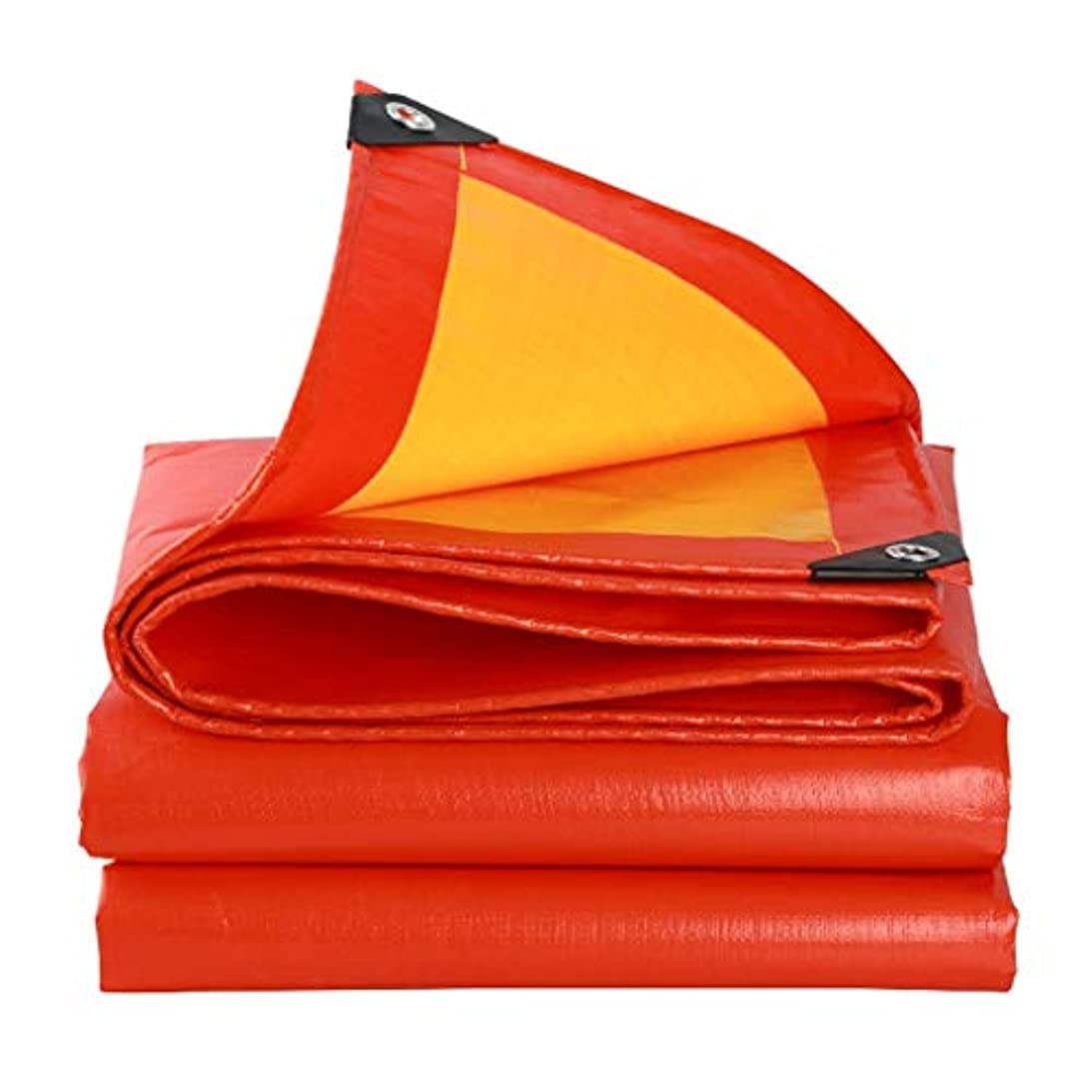 理論話す魅惑するSHYPwM 厚みのあるカラーストリップ防水クロス防水日焼け止めターポリン商品カーシェルターターポリンキャンプ、釣り、ガーデニングオレンジ用プラスチックキャンバスオイルクロス (Size : 5x6M)