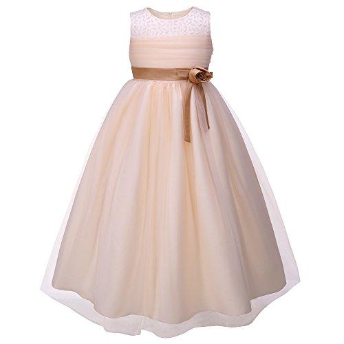 Pettigirl子供ドレス 演奏会 パニエ内蔵 重ね フォーマル ロングドレス 発表会 大きいサイズ 145