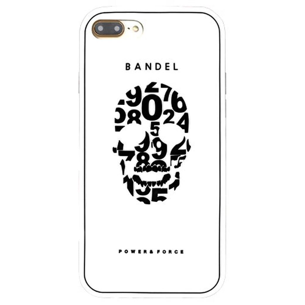 克服する王子納得させるバンデル(BANDEL) iPhone7Plusケース スカル ホワイト [iPhone7Plus用シリコンケース]