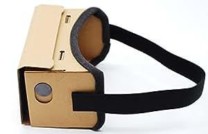 便利生活 新型Google Cardboard(グーグル・カードボード)互換品 3Dメガネ 3DVR VRメガネ 使用感抜群 ベルト付き 簡単組み立てできる!