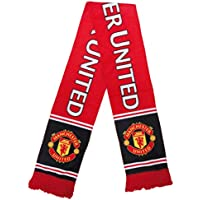 UHBHEA FC Man Utd. (Manchester United) Team Scarf Soccer Club Fan Double Sided knitted Scarf Red