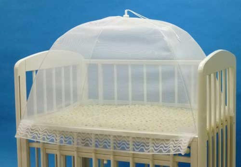 タナカ 日本製 ワンタッチ式 洗えるベビー蚊帳 無地 白 ミニベビーベッド 床畳用