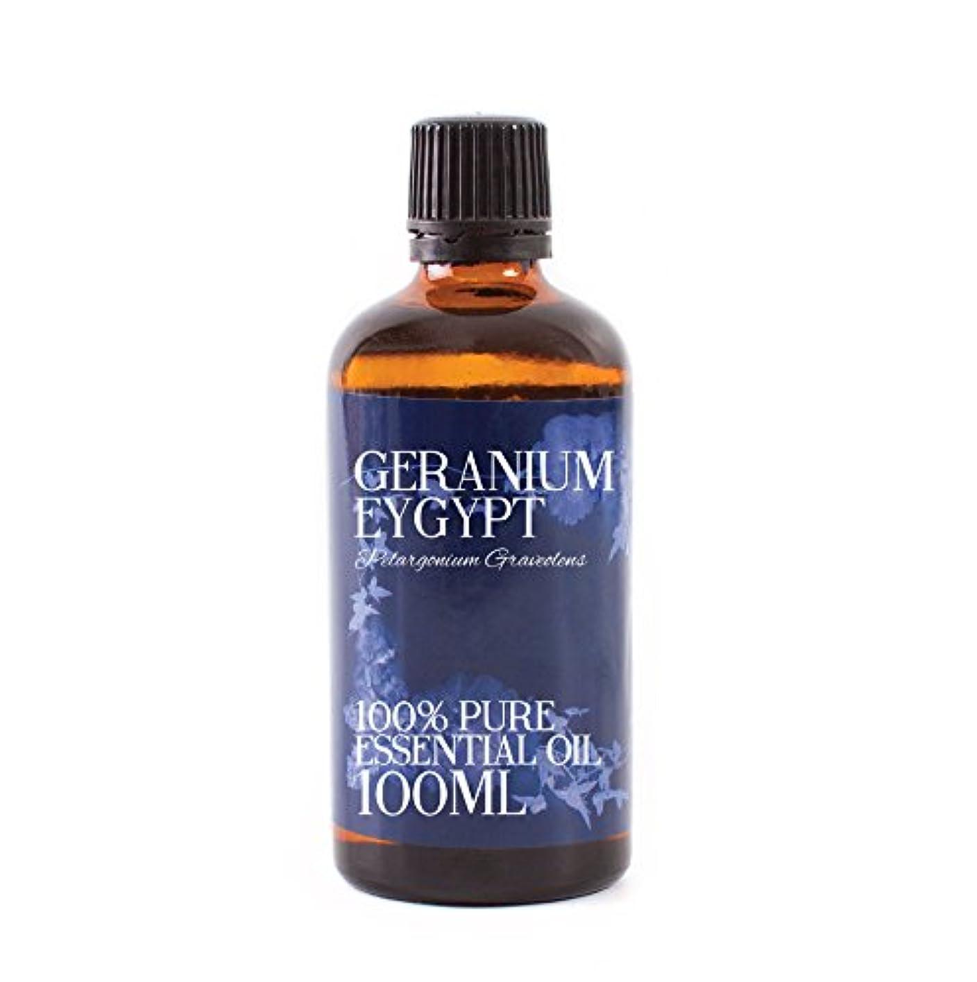 エッセイ反応する浸漬Mystic Moments | Geranium Egypt Essential Oil - 100ml - 100% Pure