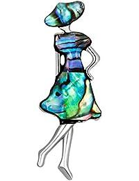 Ruikey  新しい ファッション  ブローチ 女の子デザイン  キラキラ 可愛い おしゃれ 美しい アクセサリー ジュエリー レトロ プレゼント 贈り物
