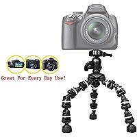 "The Pro Extreme 13""柔軟な三脚Casio Exilim EX - fh25カメラ、13インチ三脚–W / Heavy Duty頑丈なグリップ–柔軟な脚–360パン–Every Day使用。"