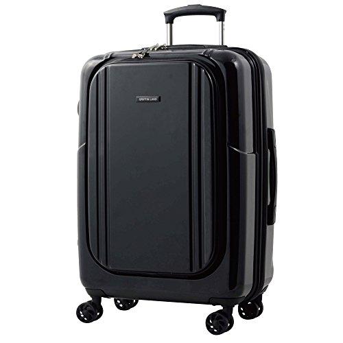 M型 ブラック/AP7351(wallaby) TSAロック搭載 スーツケース キャリーバッグ 中型 (3~5日用)
